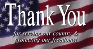 Thank you for your service.